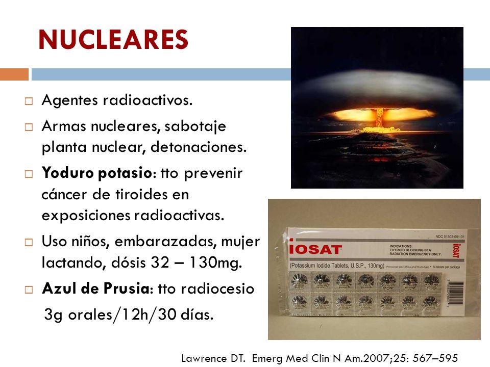 NUCLEARES Agentes radioactivos.