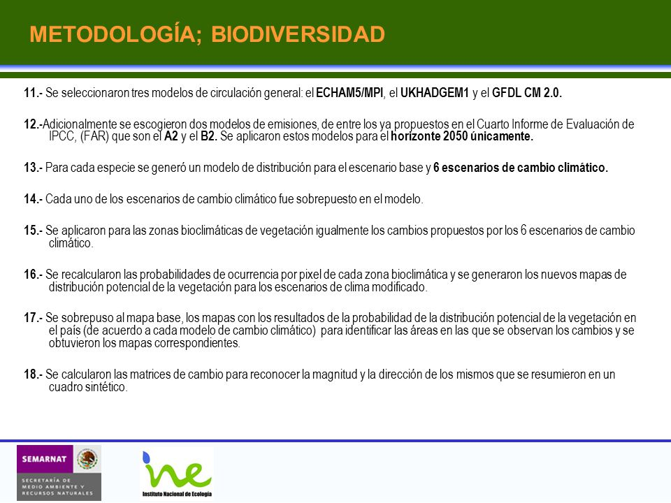 METODOLOGÍA; BIODIVERSIDAD