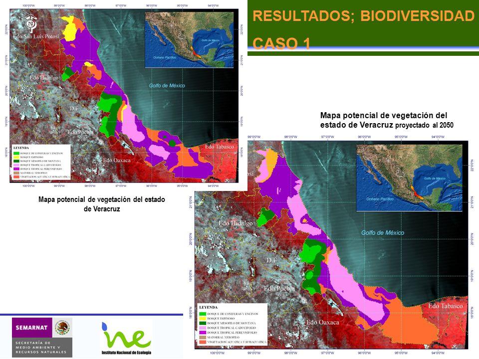 Mapa potencial de vegetación del estado