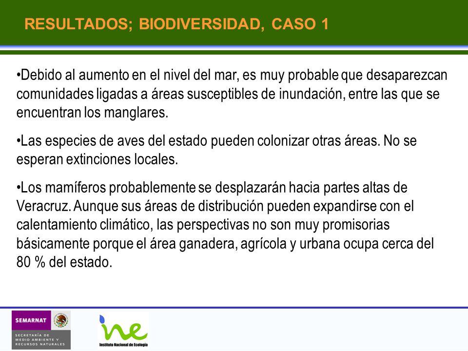 RESULTADOS; BIODIVERSIDAD, CASO 1