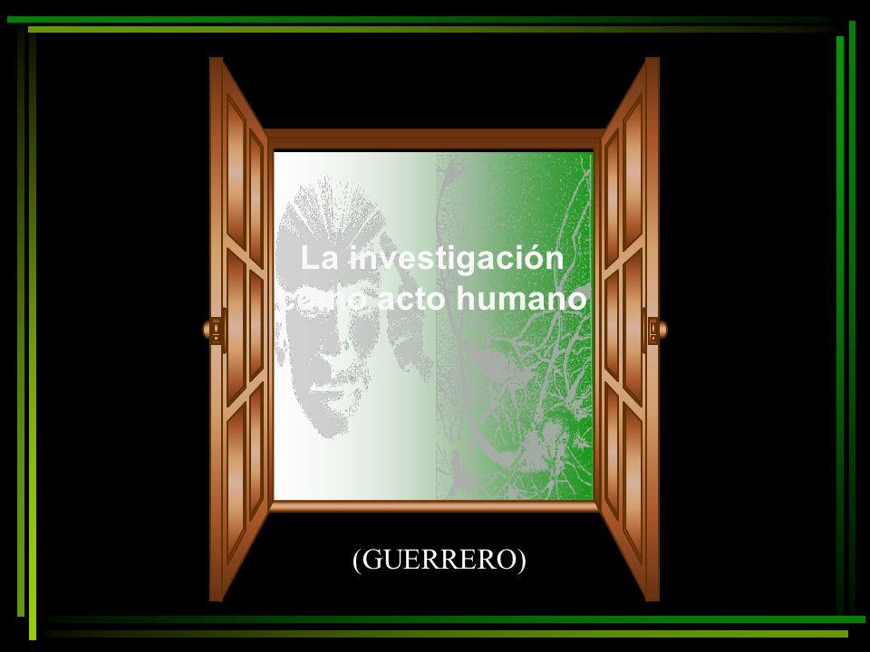 La investigación como acto humano