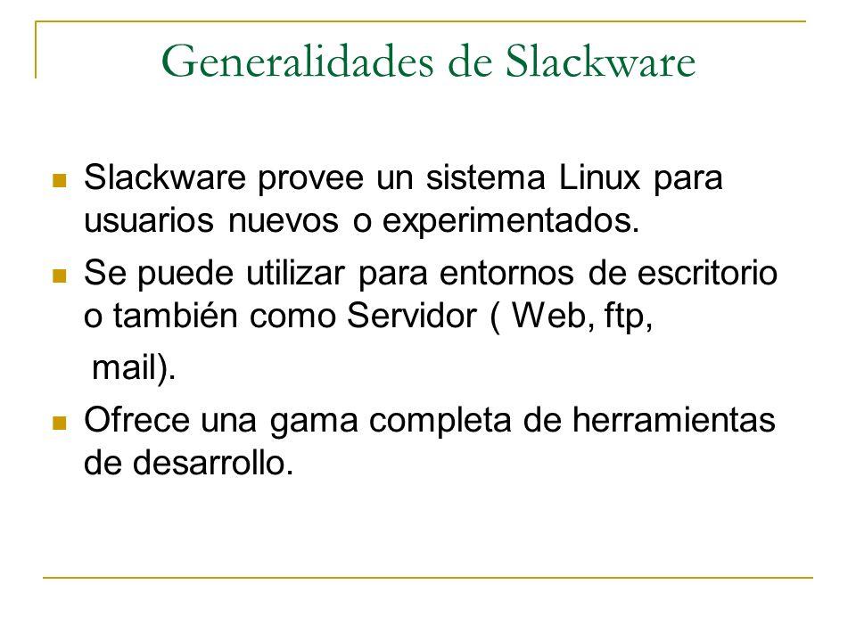 Generalidades de Slackware