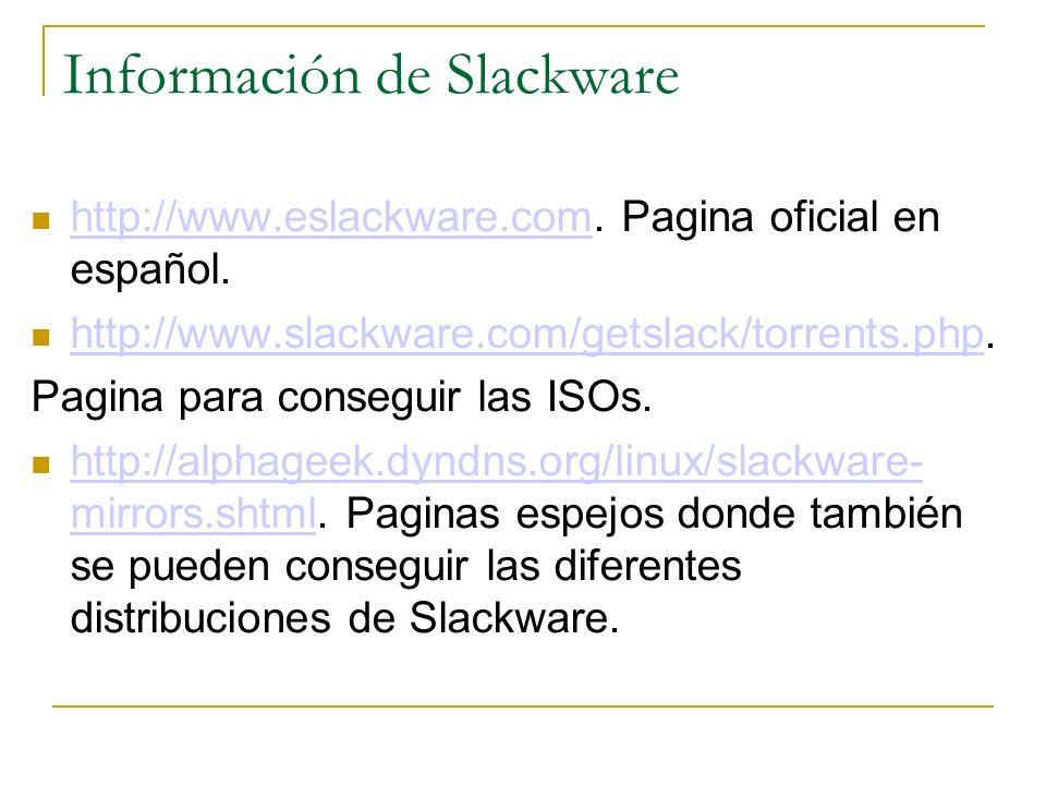 Información de Slackware