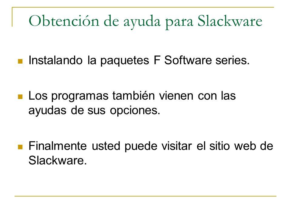 Obtención de ayuda para Slackware