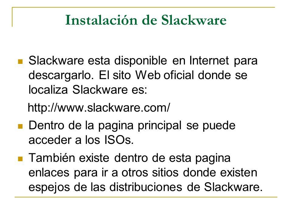 Instalación de Slackware