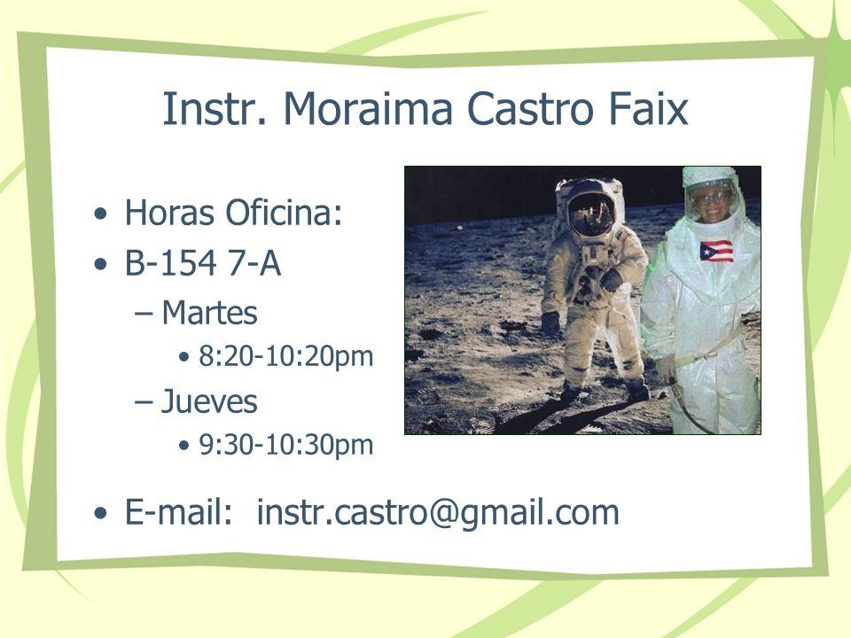 Instr. Moraima Castro Faix