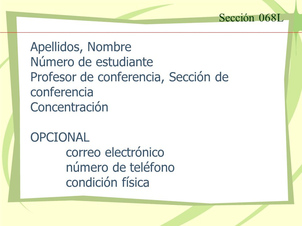 Sección 068L