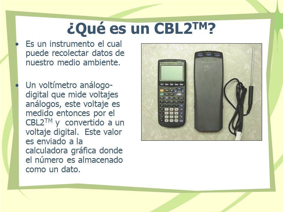 ¿Qué es un CBL2TM Es un instrumento el cual puede recolectar datos de nuestro medio ambiente.