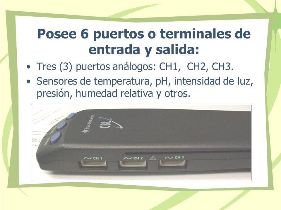 Posee 6 puertos o terminales de entrada y salida: