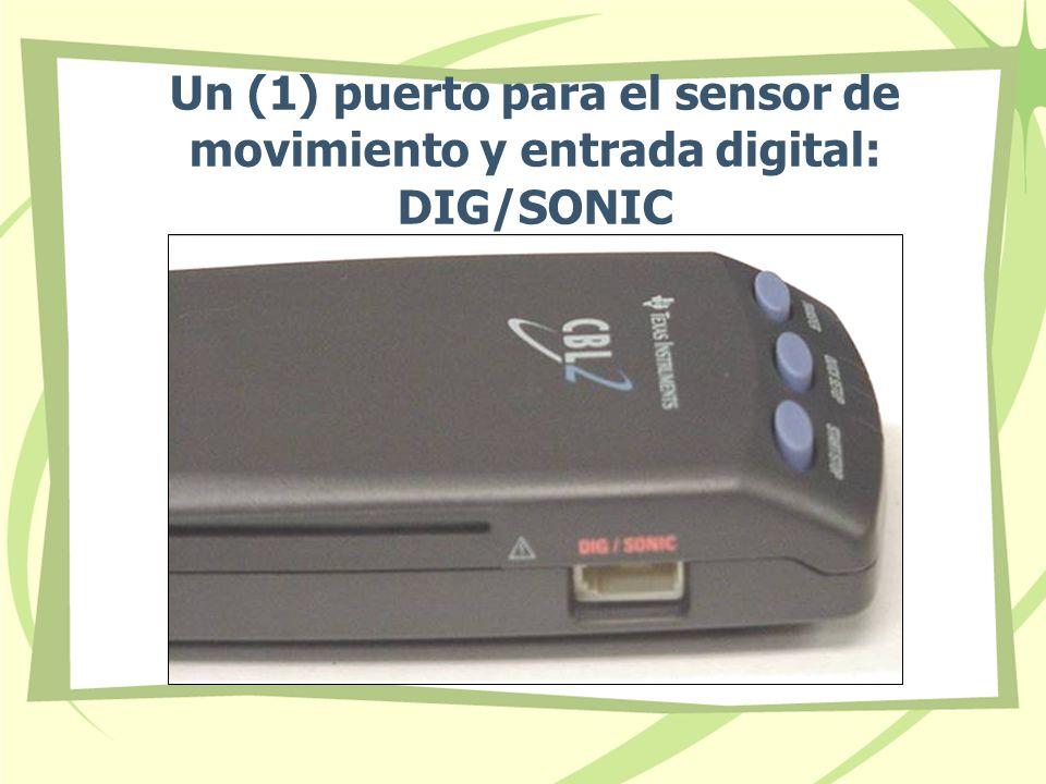 Un (1) puerto para el sensor de movimiento y entrada digital: DIG/SONIC