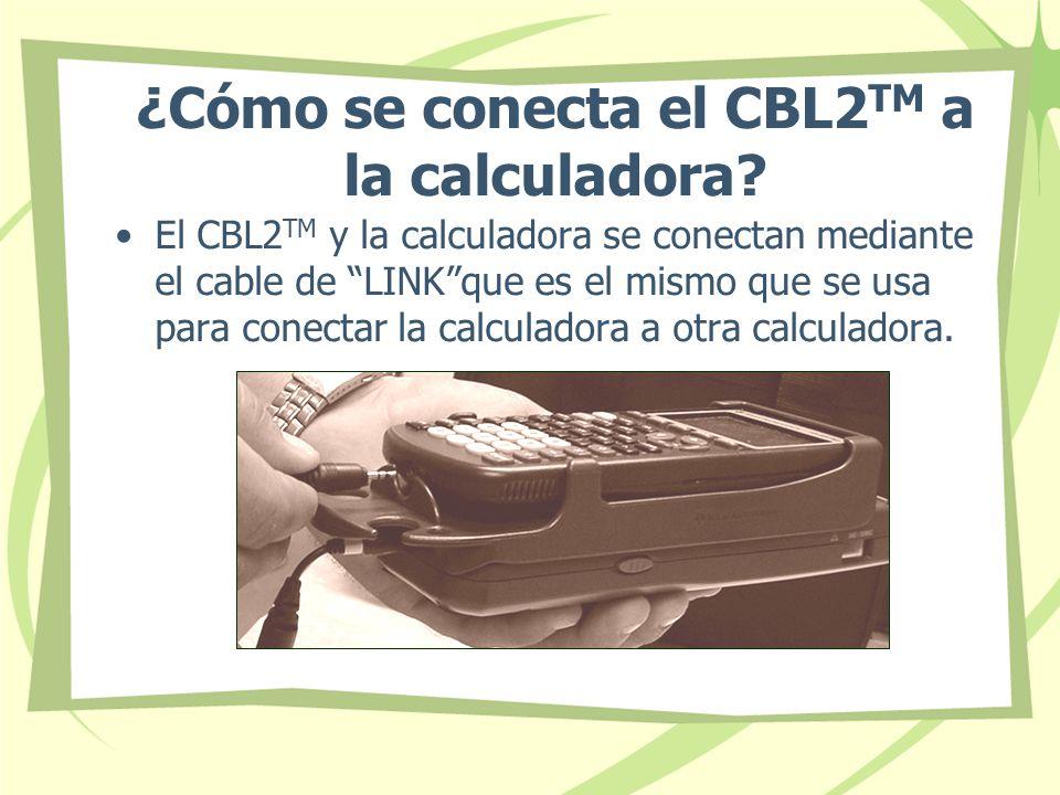 ¿Cómo se conecta el CBL2TM a la calculadora