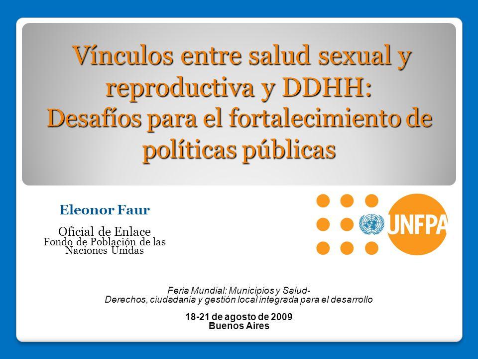 Vínculos entre salud sexual y reproductiva y DDHH: Desafíos para el fortalecimiento de políticas públicas
