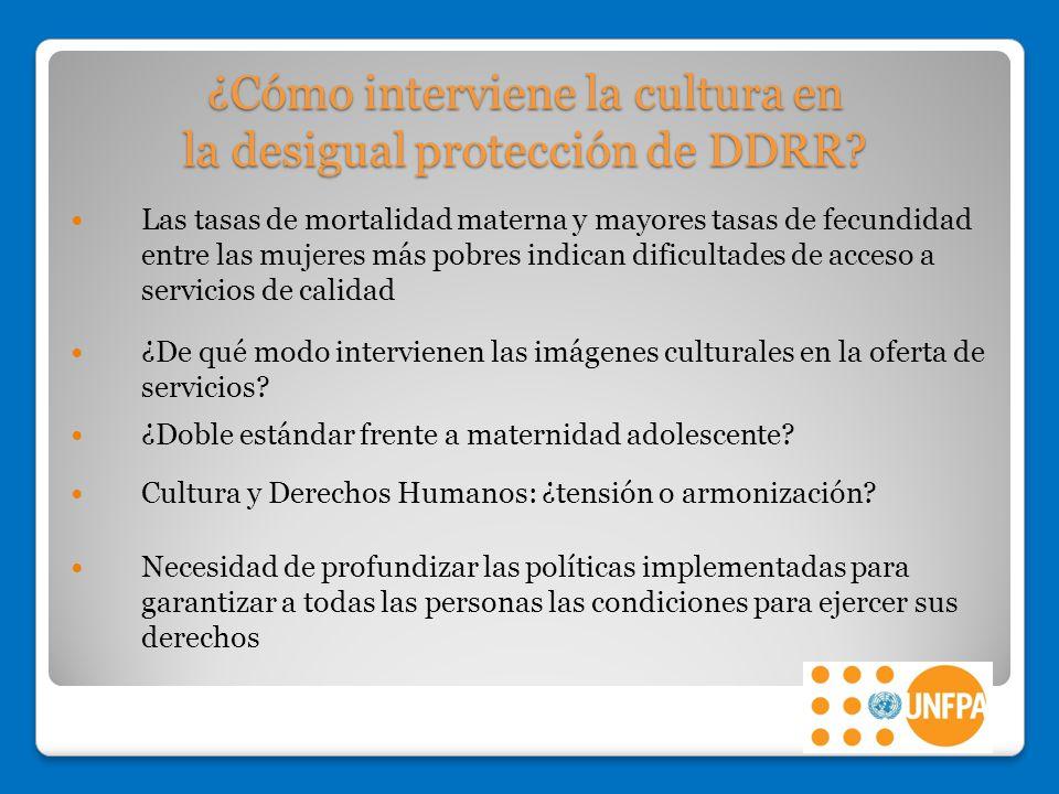 ¿Cómo interviene la cultura en la desigual protección de DDRR