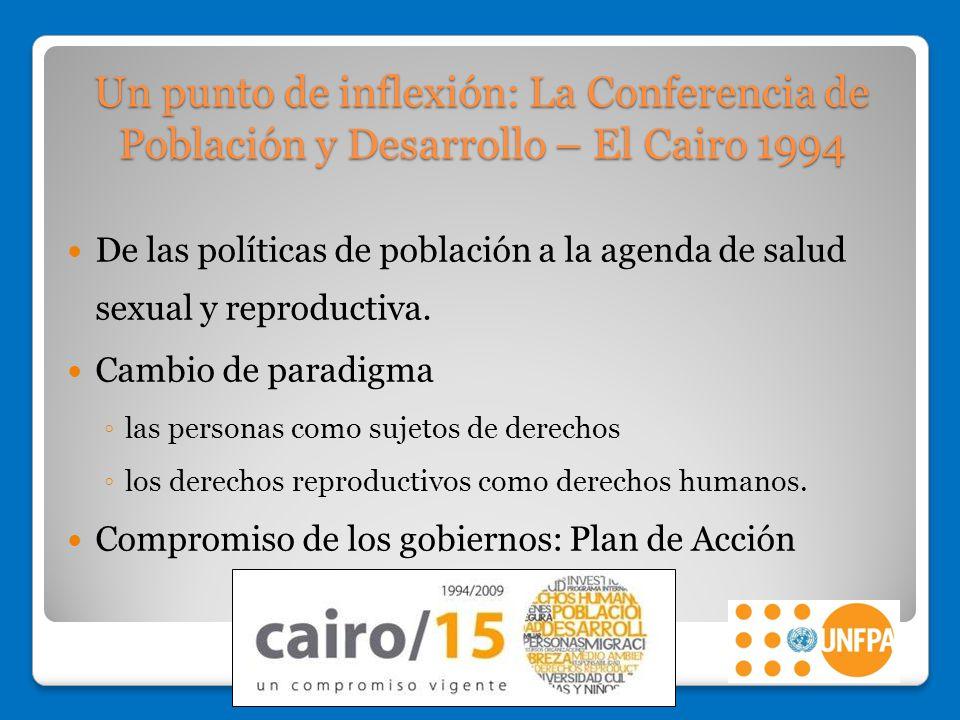 Un punto de inflexión: La Conferencia de Población y Desarrollo – El Cairo 1994