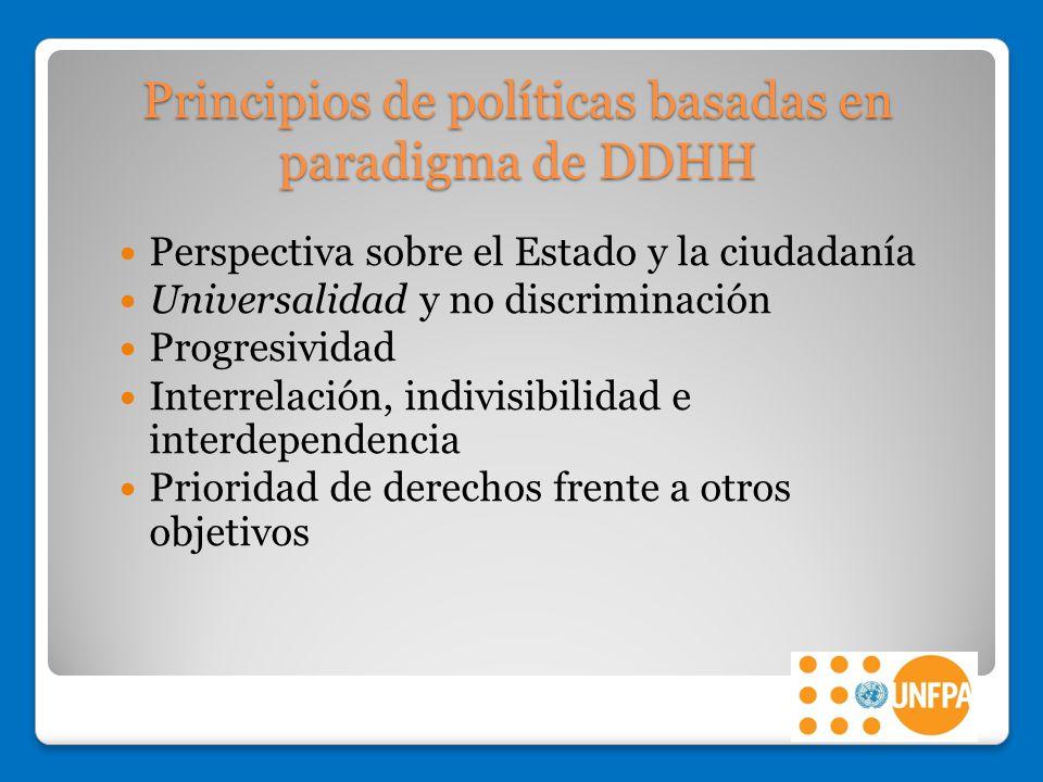 Principios de políticas basadas en paradigma de DDHH