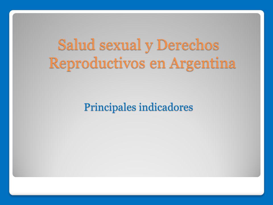 Salud sexual y Derechos Reproductivos en Argentina