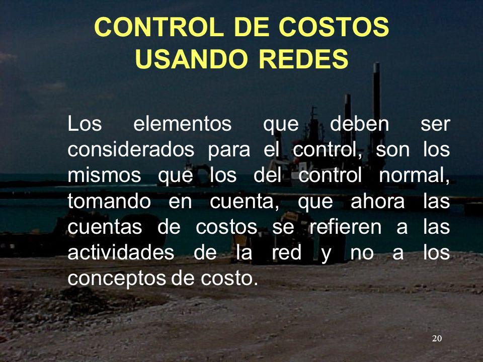 CONTROL DE COSTOS USANDO REDES