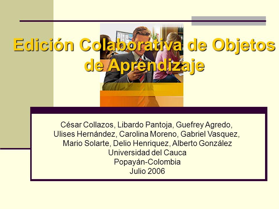 Edición Colaborativa de Objetos