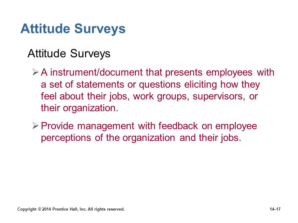 Attitude Surveys Attitude Surveys