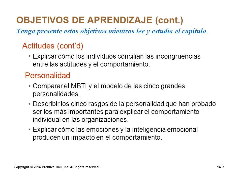 OBJETIVOS DE APRENDIZAJE (cont
