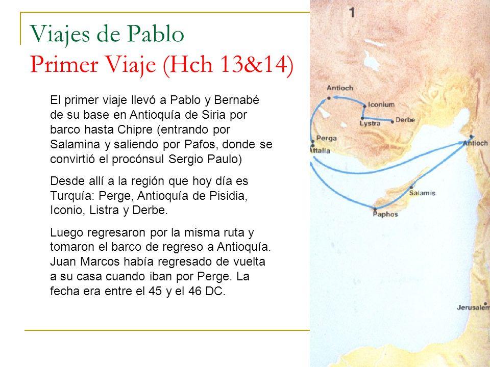 Viajes de Pablo Primer Viaje (Hch 13&14)