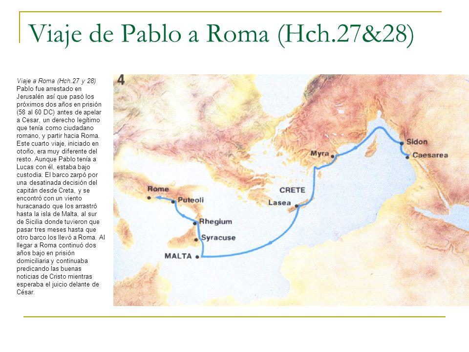 Viaje de Pablo a Roma (Hch.27&28)