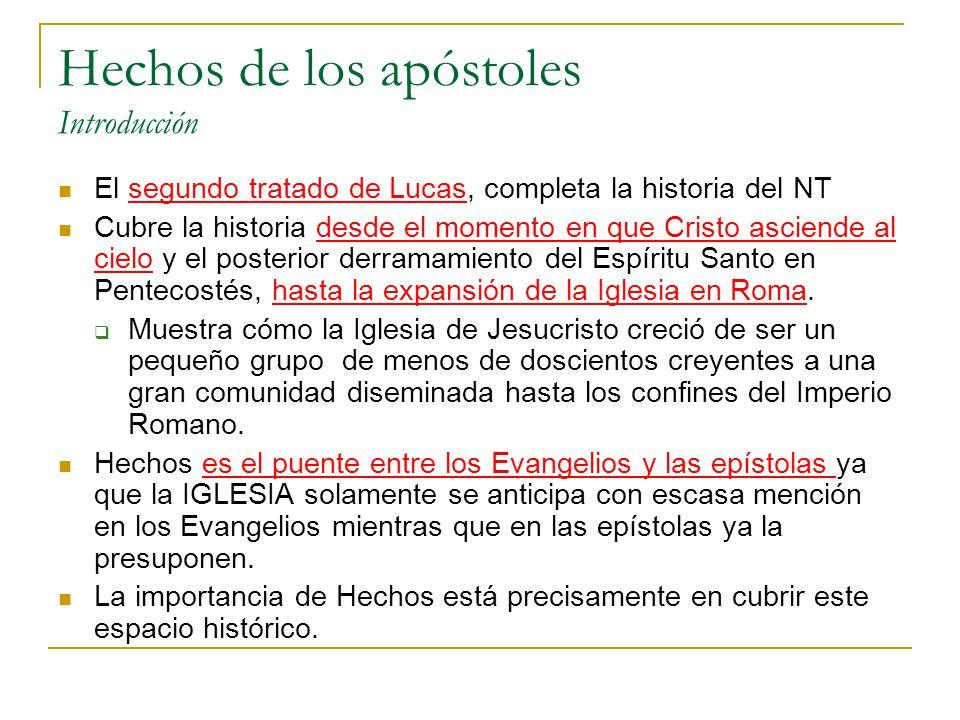 Hechos de los apóstoles Introducción