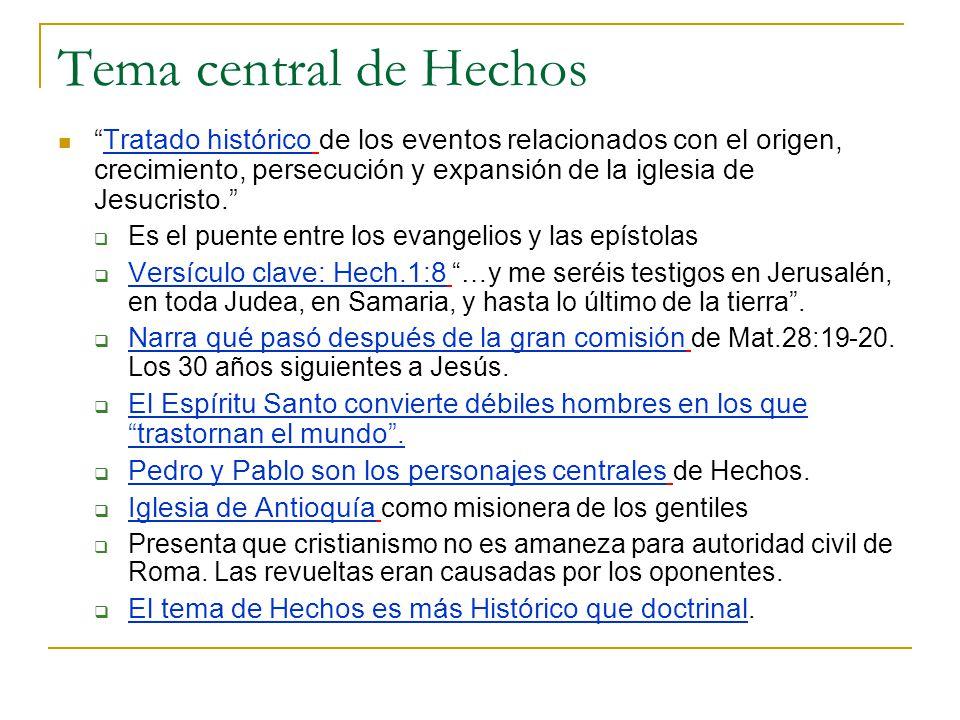 Tema central de Hechos