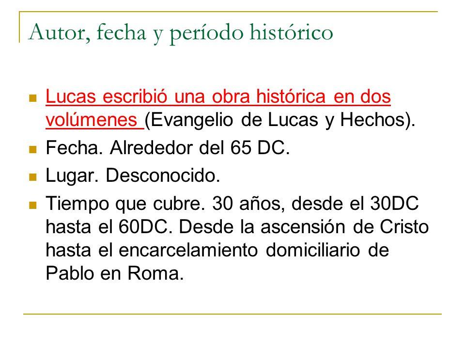 Autor, fecha y período histórico