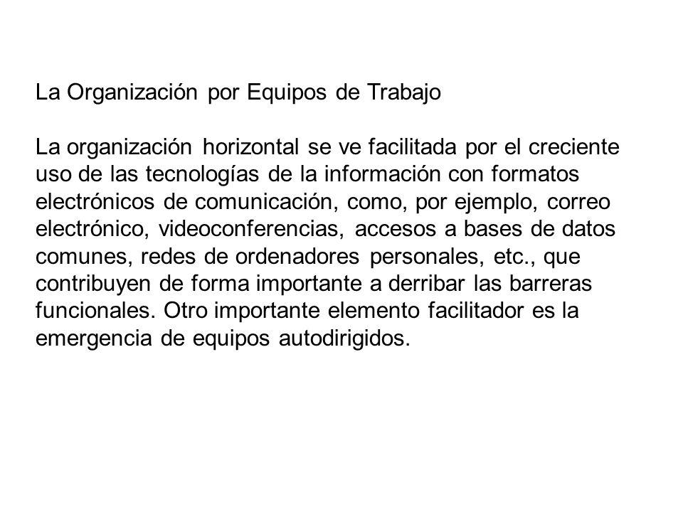 La Organización por Equipos de Trabajo