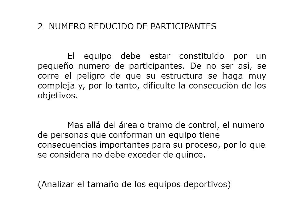 2 NUMERO REDUCIDO DE PARTICIPANTES