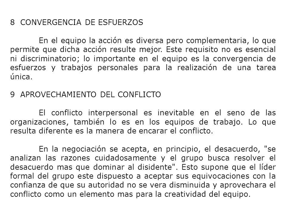 8 CONVERGENCIA DE ESFUERZOS