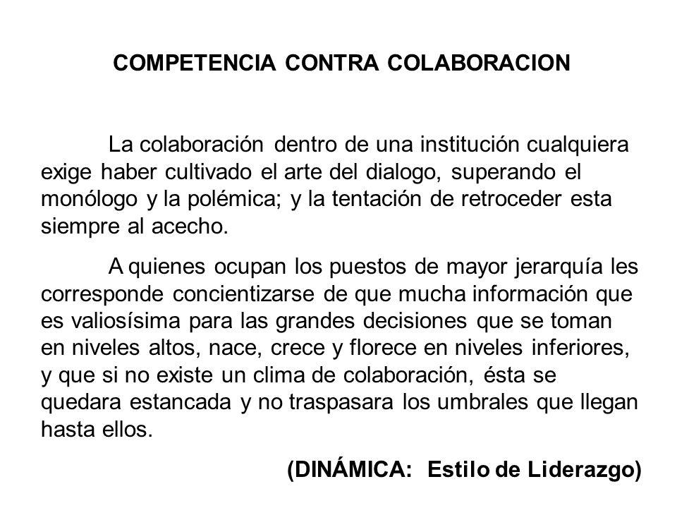 COMPETENCIA CONTRA COLABORACION