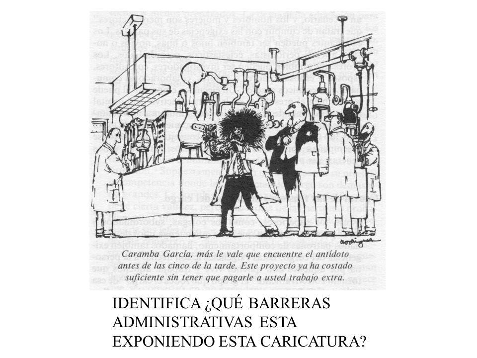 IDENTIFICA ¿QUÉ BARRERAS ADMINISTRATIVAS ESTA EXPONIENDO ESTA CARICATURA