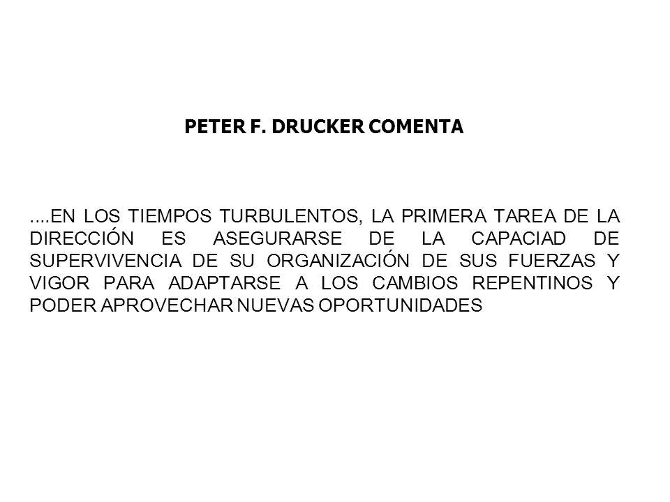 PETER F. DRUCKER COMENTA