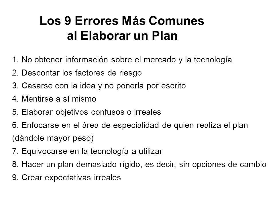 Los 9 Errores Más Comunes al Elaborar un Plan