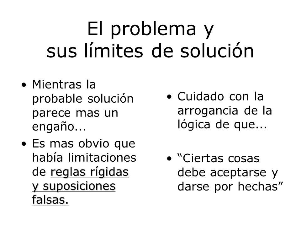 El problema y sus límites de solución