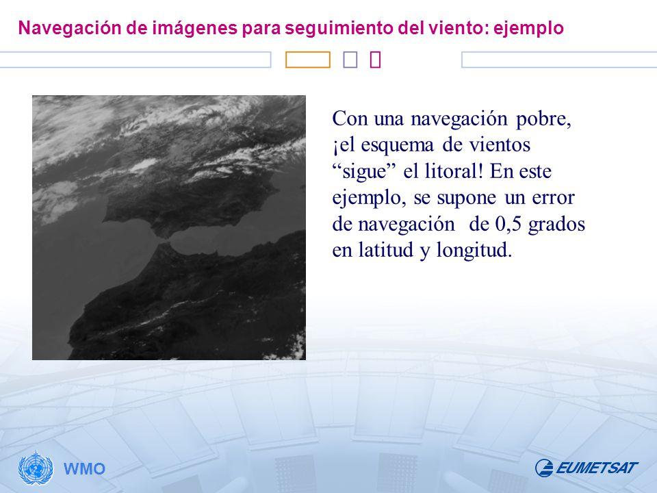Navegación de imágenes para seguimiento del viento: ejemplo