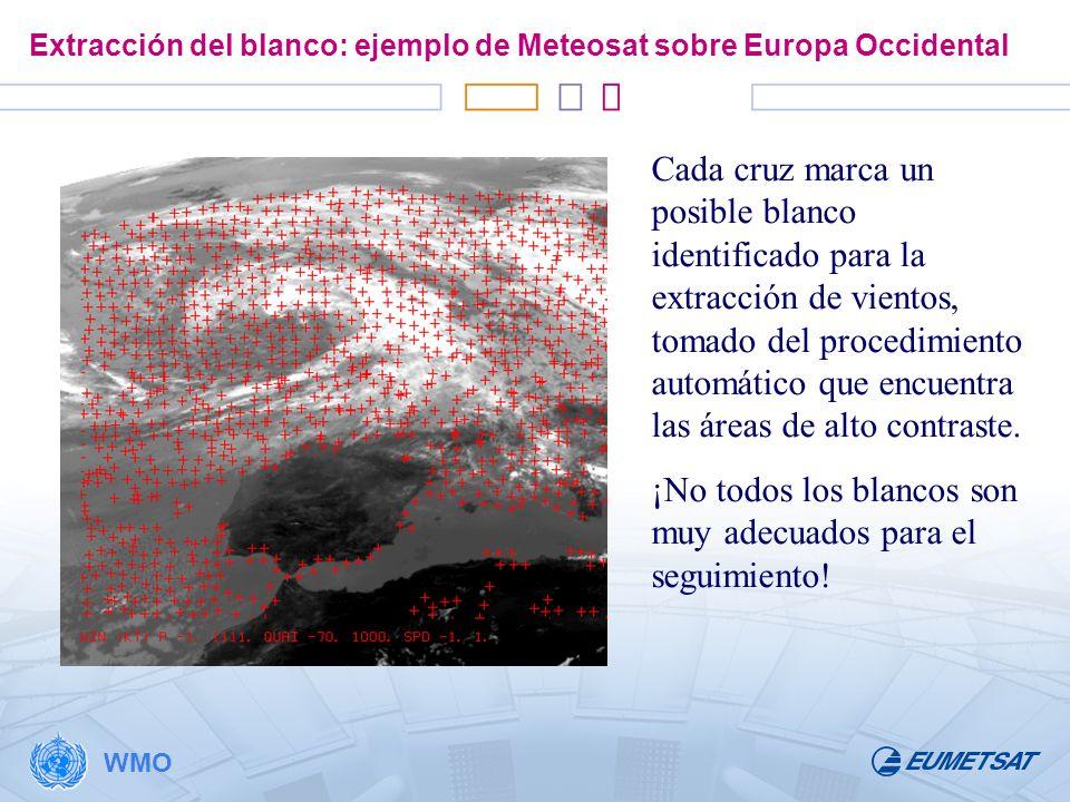 Extracción del blanco: ejemplo de Meteosat sobre Europa Occidental