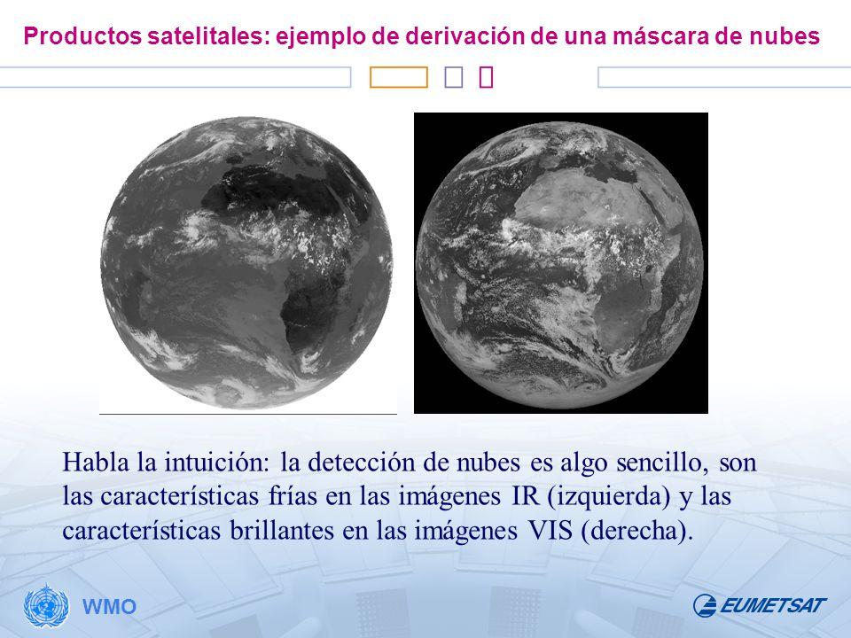 Productos satelitales: ejemplo de derivación de una máscara de nubes