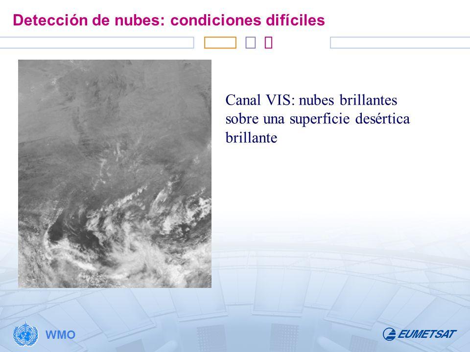 Detección de nubes: condiciones difíciles