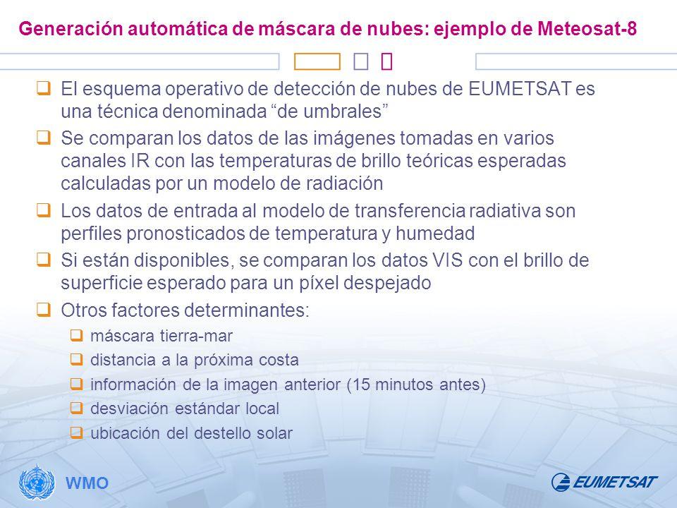 Generación automática de máscara de nubes: ejemplo de Meteosat-8