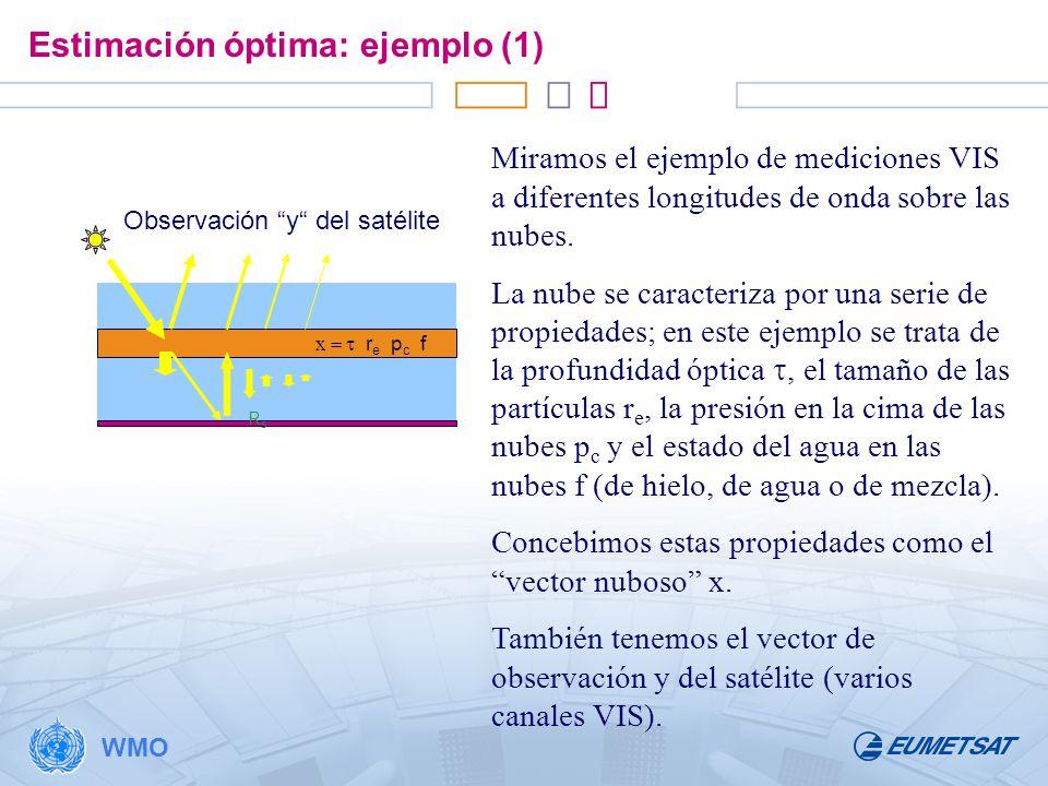 Estimación óptima: ejemplo (1)
