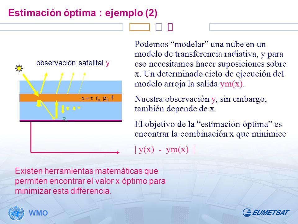 Estimación óptima : ejemplo (2)