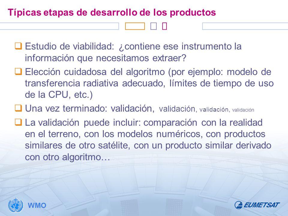 Típicas etapas de desarrollo de los productos