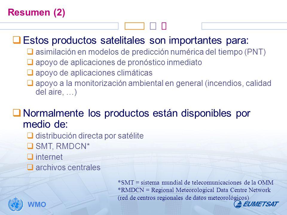 Estos productos satelitales son importantes para: