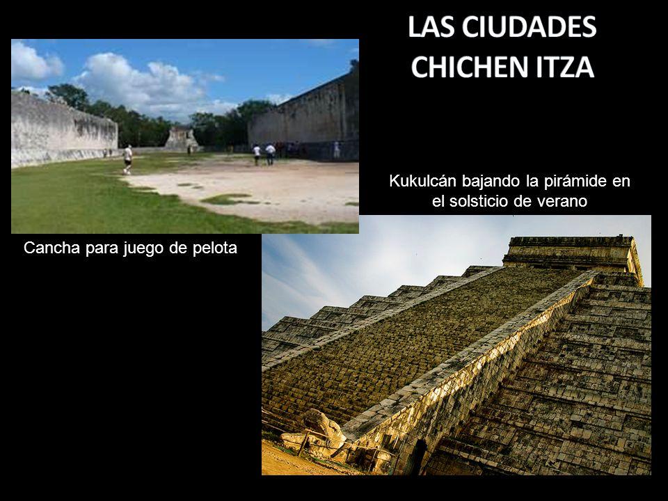 Kukulcán bajando la pirámide en el solsticio de verano