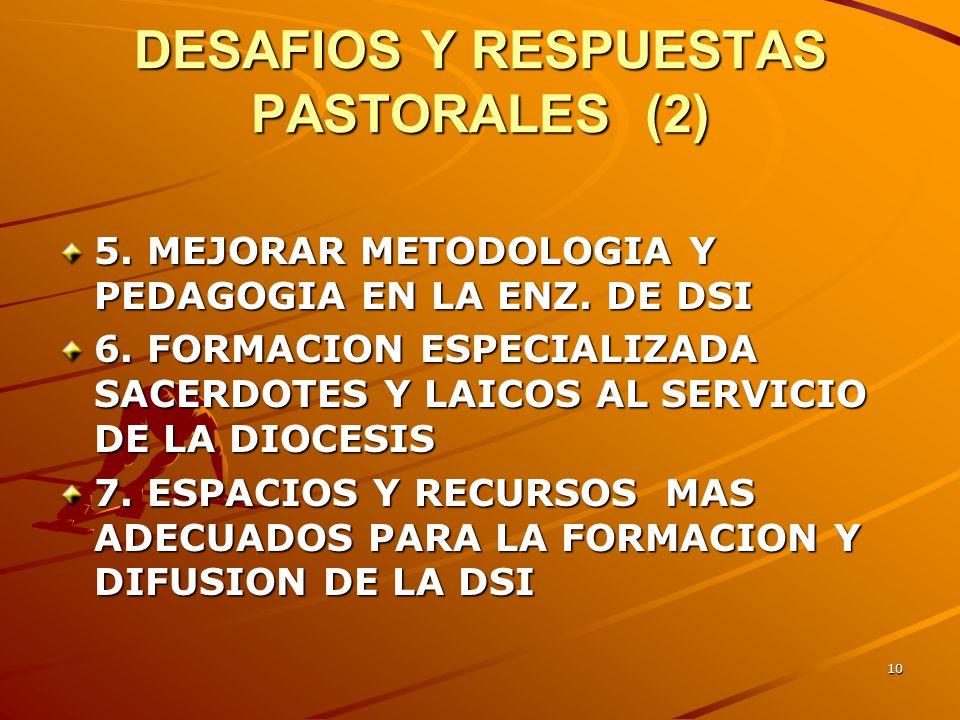 DESAFIOS Y RESPUESTAS PASTORALES (2)