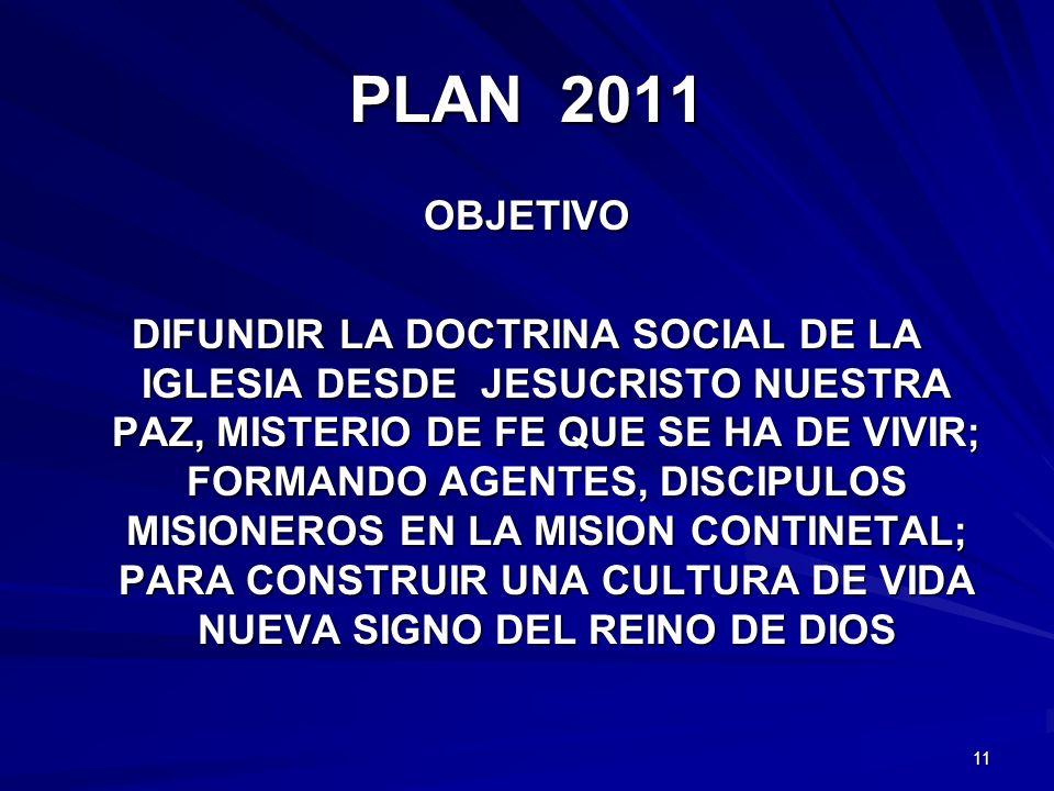 PLAN 2011 OBJETIVO.