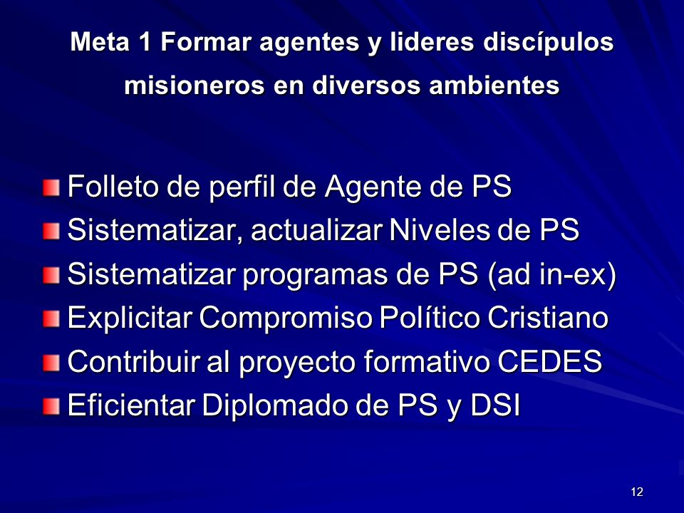 Folleto de perfil de Agente de PS